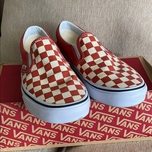 NEW VANS Checkerboard Classic Slip On